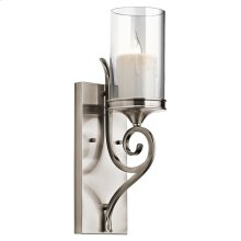 Lara Collection 1 Light Lara Wall Sconce in Classic Pewter