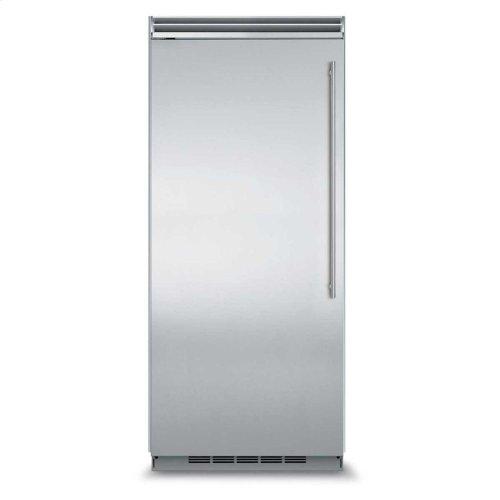 "Professional Built-In 36"" All Refrigerator - Solid Stainless Steel Door - Left Hinge, Slim Designer Handle"