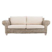 Tahiti Wicker 2.5-SEATER Sofa - White Wash / Beige