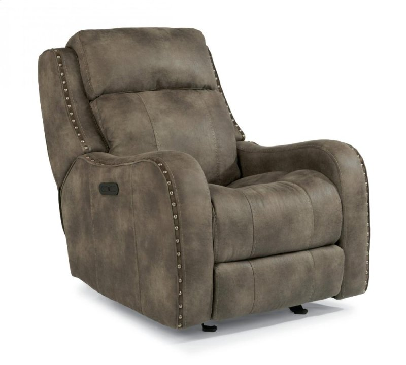 141854ph In By Flexsteel Wichita Falls Tx Springfield Fabric Gliding Recliner With Headrest