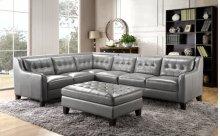 6640 Malibu Armless Chair 177027 Grey