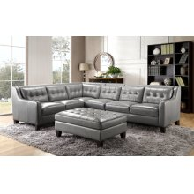 6640 Malibu 3PC Sectional - Grey Leather