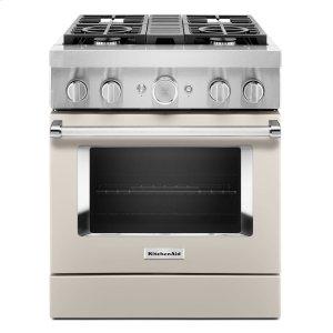 KitchenAidKitchenAid® 30'' Smart Commercial-Style Dual Fuel Range with 4 Burners - Milkshake