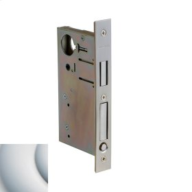 Satin Chrome 8632 Pocket Door Lock with Pull