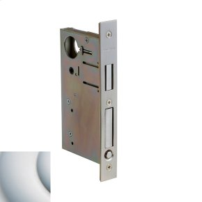 Satin Chrome 8632 Pocket Door Lock with Pull