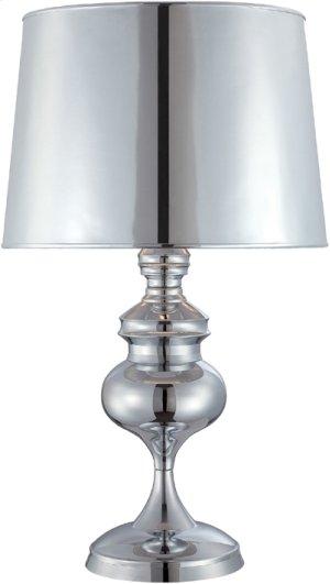 Table Lamp, Chrome/mylar Shade, E27 Cfl 23w