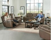 Power Lay Flat Reclining Console Loveseat Product Image