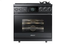 """36"""" Pro Dual-Fuel Steam Range, Graphite Stainless Steel, Natural Gas"""
