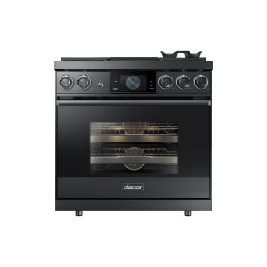 "Dacor36"" Pro Dual-Fuel Steam Range, Silver Stainless Steel, Natural Gas"