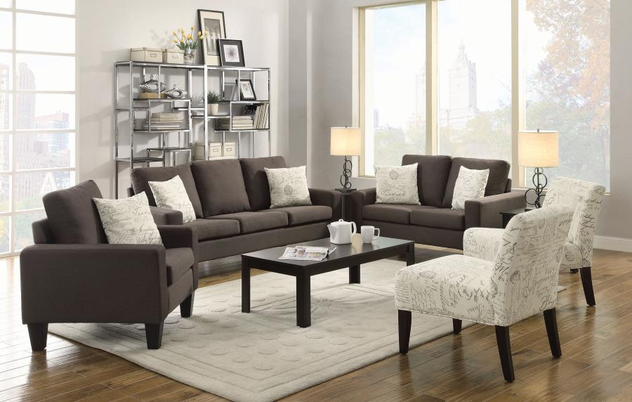 Coaster 2 Piece Living Room Set Hidden