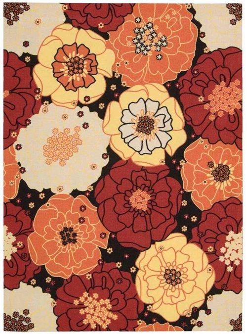 Home & Garden Rs021 Blk Rectangle Rug 5'3'' X 7'5''