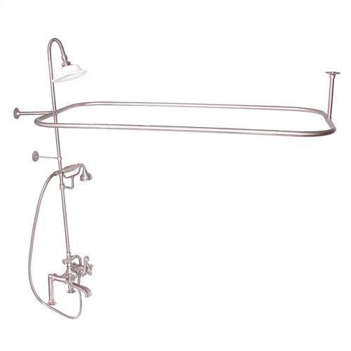Code Rectangular Shower Unit - Cross / Brushed Nickel