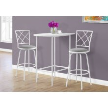"""HOME BAR - 24""""X 36"""" / WHITE TOP AND METAL SPACESAVER"""