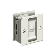 "Pocket Lock, 2 1/2""x 2 3/4"" Privacy - Polished Nickel"