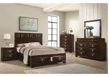 1012 Roswell King Storage Bed with Dresser & Mirror