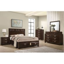 1012 Roswell Queen Storage Bed with Dresser & Mirror