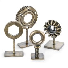 Mechanical Pieces In Brass (set of 4)