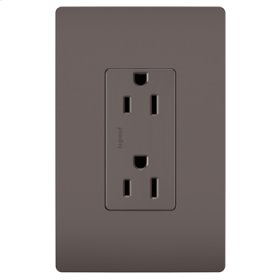 Duplex Receptacle, Brown