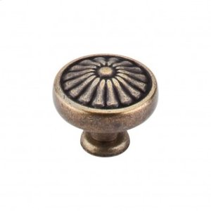 Flower Knob 1 1/4 Inch - German Bronze
