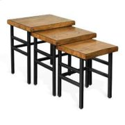 Live Edge 3pc Nesting Table Product Image