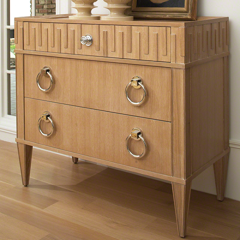 French Key Chest-Light Limed