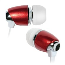 Red in-ear stereo headphones by Bell'O Digital