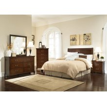 Tatiana Warm Brown Twin Five-piece Bedroom Set