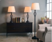3-Pack: Two Table Lamps, One Floor Lamp