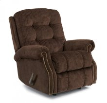 Mackenzi Fabric Swivel Gliding Recliner with Nailhead Trim