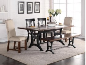 Astor Dining Table Top  with 4 Chairs and Bench