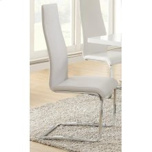 Contemporary White and Chrome Dining Chair
