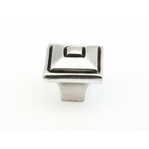 """Britannium, Square knob, 1-3/8"""" diameter Natural finish"""