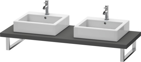 Console For Above-counter Basin And Vanity Basin, Graphite Matt (decor)