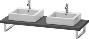 Console For Above-counter Basin And Vanity Basin, Graphite Matt (decor)
