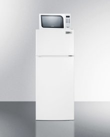 """24"""" Wide Frost-free Refrigerator-freezer-microwave Combination Unit With Large Capacity"""