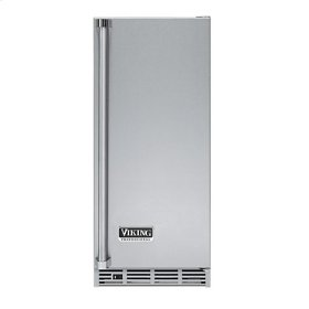 "Stainless Steel 15"" Undercounter/Freestanding Tall Door Ice Machine - VUIM (Left Hinge Door)"