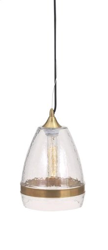 Freya Large Clear Dome Pendant Light