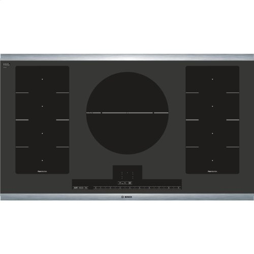 "36"" Induction Cooktop Benchmark Series - Black with Stainless Steel Strips"