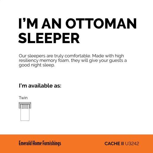Emerald Home Cache II Twin Sleeper Ottoman W/gel Mattress Chocolate Brown U3242-33-05