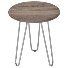 Tario Accent Table in Driftwood and Chrome