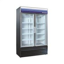 45 cu ft 2 Door Merchandiser Freezer (Black)