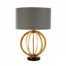 Geo Hammered Gold Globe Table Lamp