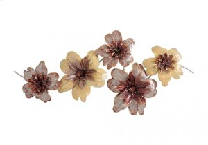 MH1068B  Gold and Copperry Flowers