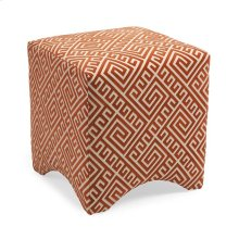 Marisa Graphic Orange Ottoman