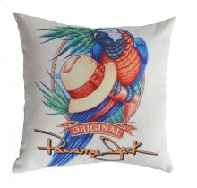 Panama Parrot Throw Pillow