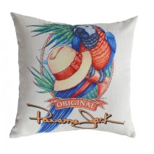 Panama Parrot Throw Pillow