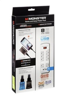 Monster Power 800 USB PowerCard Turbo ScreenClean & CleanTouch