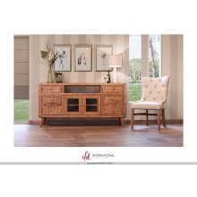 """70"""" TV-Stand w/6 Drawers, 2 Glass Doors - KD System"""