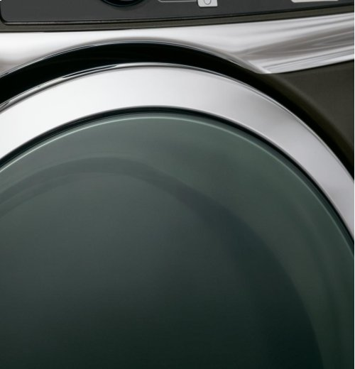 GE® 8.3 cu. ft. capacity RightHeight Design Front Load electric dryer with steam