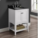"Shaker Americana 24"" Open Shelf Vanity - Polar White Product Image"